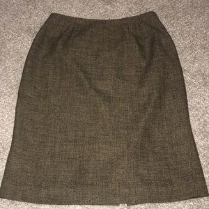 Larry Levine Tweed Pencil Skirt